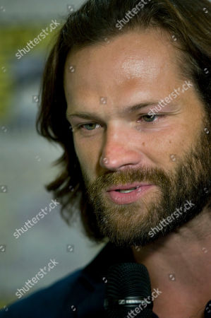 US actor Jared Padalecki of Supernatural television series, speaks during a press conference at Comic Con International 2019 in San Diego, California, USA, 21 July 2019.