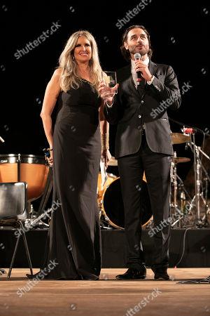 Tiziana Rocca and Daniele Pecci