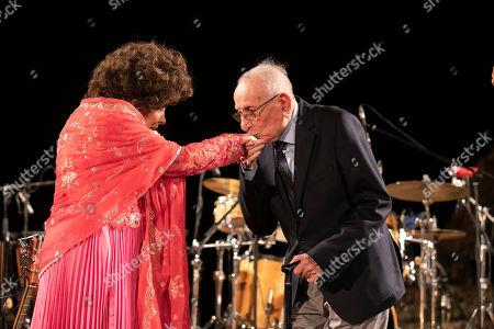 Gina Lollobrigida and Eugenio Longo