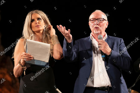 Stock Picture of Tiziana Rocca and Terry George