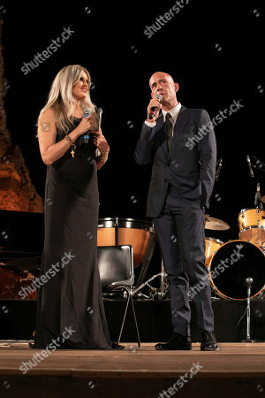 Tiziana Rocca and Gianmarco Tognazzi