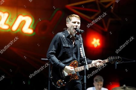 Alex Kapranos, lead singer of the British band Franz Ferdinand, performs during the 25th Benicasim International Festival, in Benicasim, Spain, 21 July 2019.