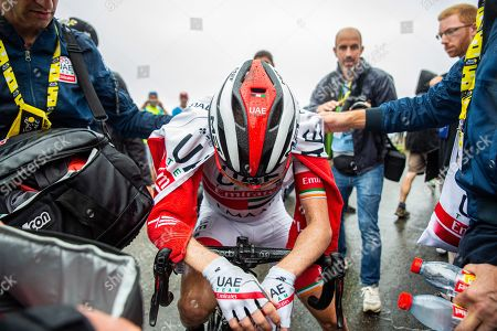 Stock Photo of Dan Martin at the stage finish.