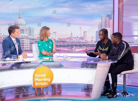Stock Image of Ben Shephard and Kate Garraway with Krept and Konan
