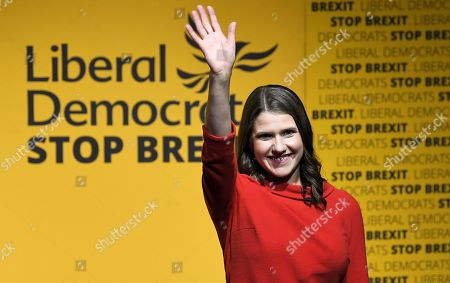 Jo Swinson is announced as the new Leader of the Liberal Democrats, Embankment, London.