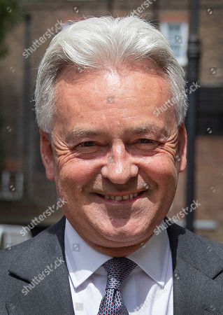 Sir Alan Duncan is seen in Westminster after resigning as Foreign Office Minister.