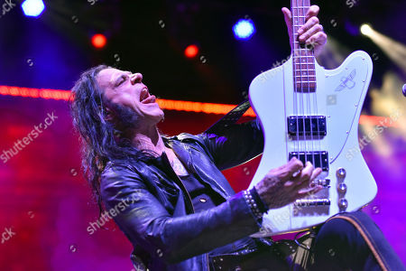 Chuck Garric of Alice Cooper's band performs at the Hollywood Casino Amphitheatre, in Chicago