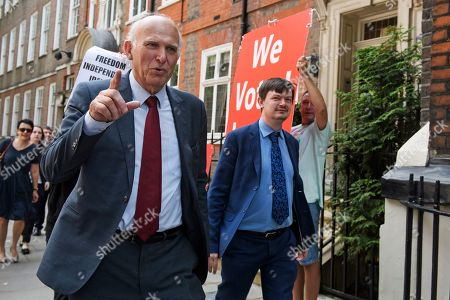 Out going Liberal Demoract Leader Vince Cable is seen in Westminster