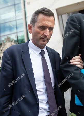 Chris Holmes - Baron Holmes of Richmond, leaves Westminster Magistrates' Court where he appeared on charges of sexual assault.