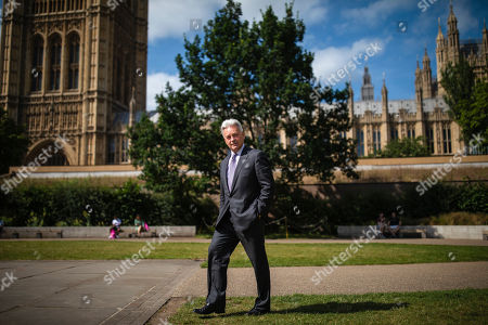 Former Foreign Office Minister Sir Alan Duncan seen in Westminster after he resigned his ministerial position.