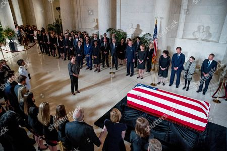 Editorial image of Supreme Court Justice John Paul Stevens lies in repose, Washington DC, USA - 22 Jul 2019