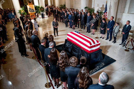 Editorial picture of Supreme Court Justice John Paul Stevens lies in repose, Washington DC, USA - 22 Jul 2019
