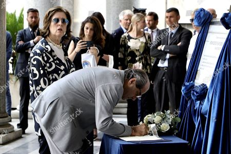 Editorial photo of Funeral of Francesco Saverio Borrelli, Florence, Italy - 22 Jul 2019