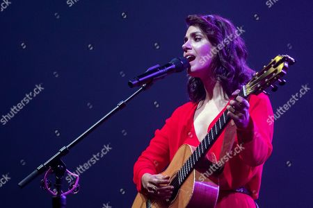 Stock Picture of Katie Melua performs on stage during a concert at the Blue Balls Festival in Lucerne, Switzerland, 22 July 2019. The music event runs from 19 to 27 July.