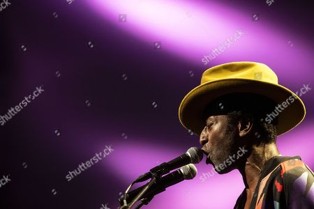 Keziah Jones performs on stage during a concert at the Blue Balls Festival in Lucerne, Switzerland, 22 July 2019. The music event runs from 19 to 27 July.