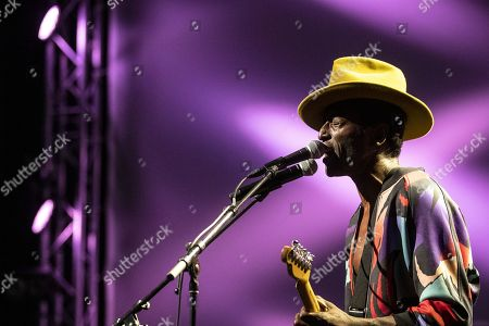 Stock Picture of Keziah Jones performs on stage during a concert at the Blue Balls Festival in Lucerne, Switzerland, 22 July 2019. The music event runs from 19 to 27 July.
