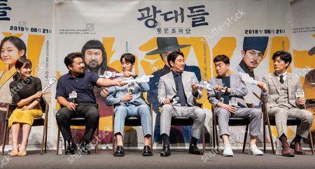 South Korean actors Kim Seul-ki, Go Chang-seok, Yoon Bak, Cho Jin-woong, Son Hyun-ju, Park Hee-soon
