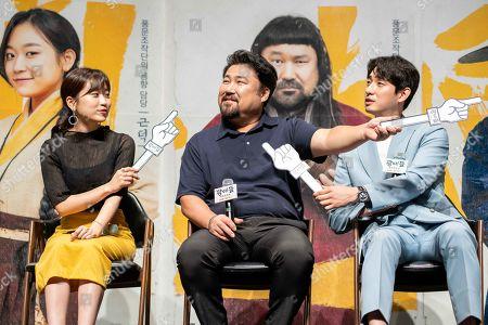 Stock Picture of South Korean actors Kim Seul-ki, Go Chang-seok, Yoon Bak