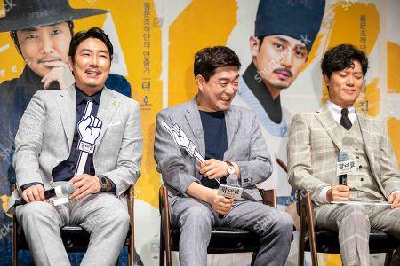 South Korean actors Cho Jin-woong, Son Hyun-ju, Park Hee-soon