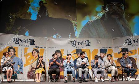 South Korean actors Kim Seul-ki, Go Chang-seok, Yoon Bak, Cho Jin-woong, Son Hyun-ju, Park Hee-soon and movie director Kim Joo-ho