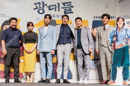 South Korean actors Go Chang-seok, Kim Seul-ki, Yoon Bak, Cho Jin-woong, Son Hyun-ju, Park Hee-soon