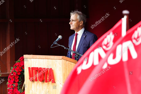 Leader of Labour party Jonas Gahr Stoere speaks during the memorial ceremony for the victims killed in the 2011 Norway attack at Utoya Island, Norway, 22 July 2019. Norway marks the eighth anniversary of the bombing of the government buildings in Oslo and the shooting at a summer camp on Utoya island, in which 77 people were killed on 22 July 2011. Convicted Norwegian right-wing extremist Anders Behring Breivik is serving a 21-year sentence for the terrorist attacks.