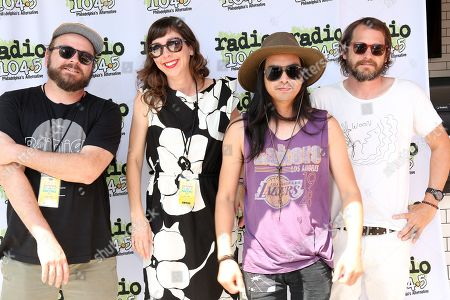 Silversun Pickups - Joe Lester, Nikki Monninger, Christopher Guanlao and Brian Aubert
