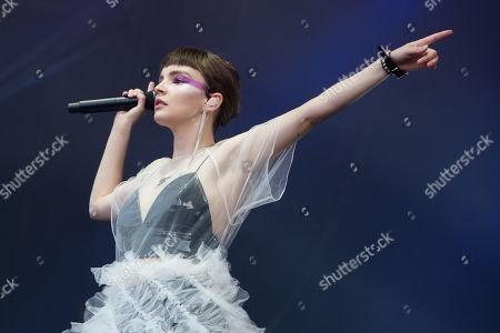 Lauren Mayberry, lead singer of scottish band Chvrches