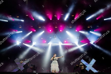 Stock Image of Lauren Mayberry, lead singer of scottish band Chvrches