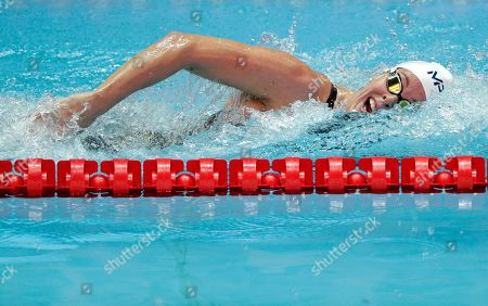 Stock Photo of United States' swimmer Allison Schmitt swims in her heat of the women's 200m freestyle at the World Swimming Championships in Gwangju, South Korea