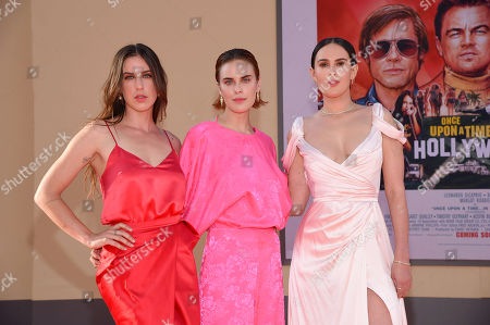 """Scout Larue Willis, Tallulah Belle Willis and Rumer Willis at the Premiere of Sony Pictures' """"Once Upon A Time In Hollywood"""" at the TCL Chinese Theatre"""