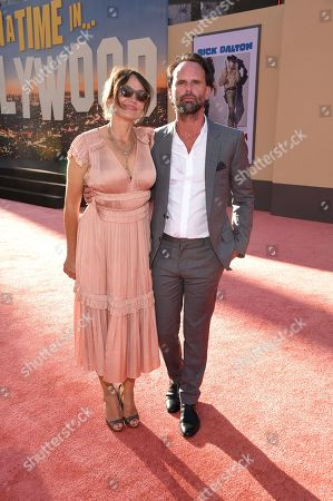 """Nadia Conners and Walton Goggins at the Premiere of Sony Pictures' """"Once Upon A Time In Hollywood"""" at the TCL Chinese Theatre"""