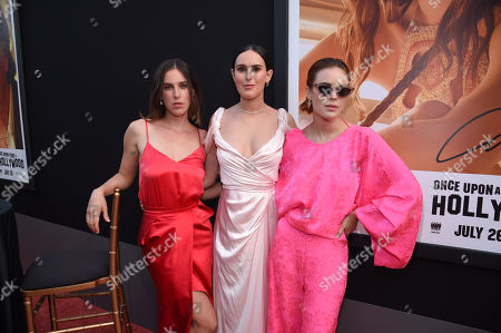 """Scout Larue Willis, Rumer Willis and Tallulah Belle Willis at the Premiere of Sony Pictures' """"Once Upon A Time In Hollywood"""" at the TCL Chinese Theatre"""