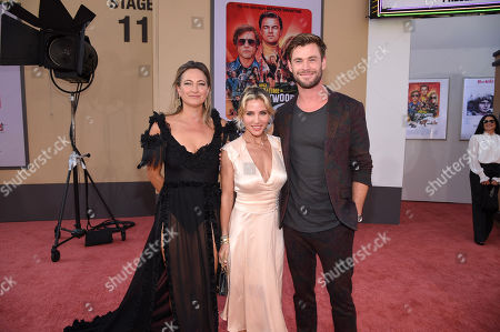 "Zoe Bell, Elsa Pataky and Chris Hemsworth at the Premiere of Sony Pictures' ""Once Upon A Time In Hollywood"" at the TCL Chinese Theatre"