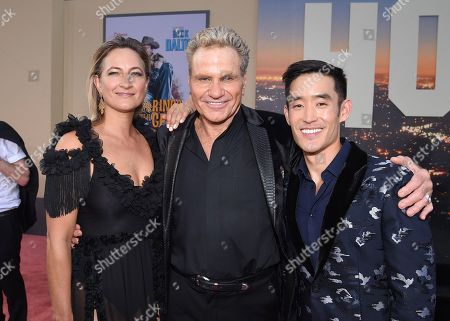 "Zoe Bell, Martin Kove and Mike Moh at the Premiere of Sony Pictures' ""Once Upon A Time In Hollywood"" at the TCL Chinese Theatre"