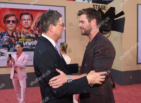 Tom Rothman, Chairman of Sony Pictures Entertainments Motion Picture Group, and Chris Hemsworth