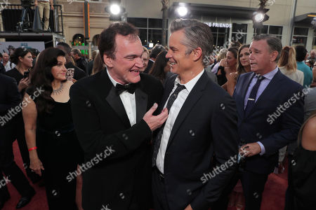 """Quentin Tarantino, Director/Writer/Producer, and Timothy Olyphant at the Premiere of Sony Pictures """"Once Upon A Time In Hollywood"""" at the TCL Chinese Theatre."""