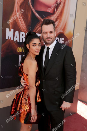 "Stock Photo of Tasie Lawrence and Jim Jefferies at the Premiere of Sony Pictures'""Once Upon A Time In Hollywood"" at the TCL Chinese Theatre."
