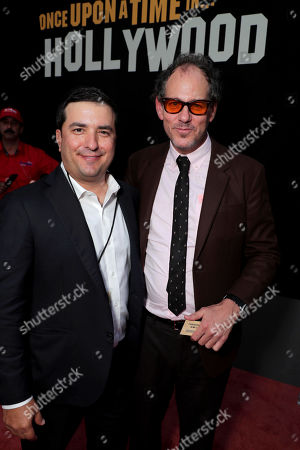 """Josh Greenstein, President, Sony Pictures Worldwide Marketing & Distribution, and Sanford Panitch, President, Columbia Pictures, Sony Pictures Entertainment, at the Premiere of Sony Pictures """"Once Upon A Time In Hollywood"""" at the TCL Chinese Theatre."""