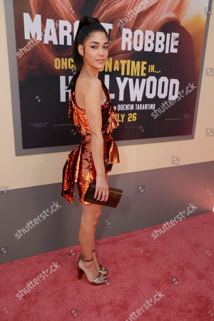 "Tasie Lawrence at the Premiere of Sony Pictures'""Once Upon A Time In Hollywood"" at the TCL Chinese Theatre."