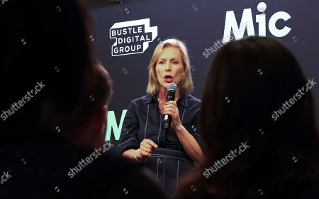 Democratic presidential candidate Kirsten Gillibrand speaks, in New York. Gillibrand said that she doesn't regret calling for Al Franken's resignation from the Senate and that female senators are being blamed for it in a way their male colleagues are not