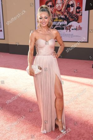 """Rebecca Gayheart arrives at the Los Angeles premiere of """"Once Upon a Time in Hollywood"""" at the TCL Chinese Theatre on"""