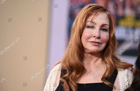 """Debra Tate, sister of Sharon Tate, arrives at the Los Angeles premiere of """"Once Upon a Time in Hollywood"""" at the TCL Chinese Theatre on"""