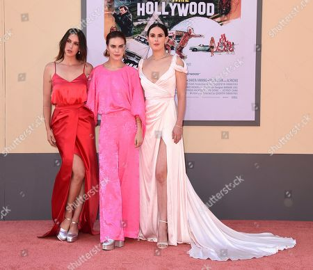 """Scout Larue Willis, Tallulah Belle Willis, Rumer Willis. Scout Larue Willis, Tallulah Belle Willis, and Rumer Willis arrive at the Los Angeles premiere of """"Once Upon a Time in Hollywood"""" at the TCL Chinese Theatre on"""