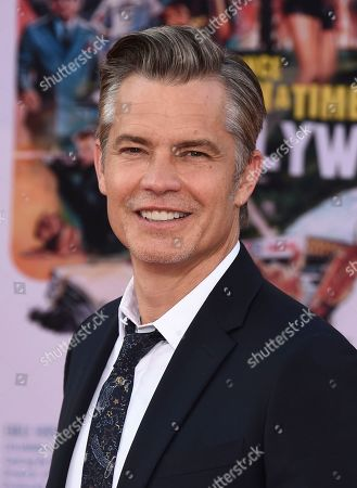 """Timothy Olyphant arrives at the Los Angeles premiere of """"Once Upon a Time in Hollywood"""" at the TCL Chinese Theatre on"""