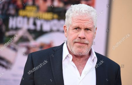 """Ron Perlman arrives at the Los Angeles premiere of """"Once Upon a Time in Hollywood"""" at the TCL Chinese Theatre on"""