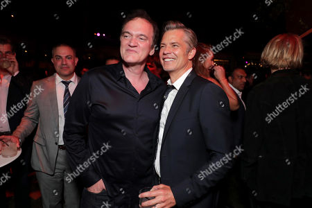 Quentin Tarantino, Director/Writer/Producer, and Timothy Olyphant at the Premiere After Party of Sony Pictures 'Once Upon A Time In Hollywood' at The Hollywood Roosevelt.