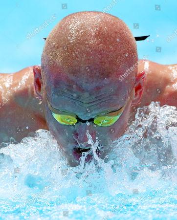 David Morgan of Australia competes in the men's 200m Butterfly heats during the Swimming events at the Gwangju 2019 FINA World Championships, Gwangju, South Korea, 23 July 2019.