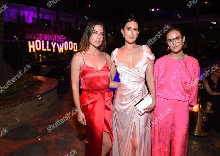 Scout Larue Willis, Rumer Willis and Tallulah Belle Willis at the Premiere After Party of Sony Pictures 'Once Upon A Time In Hollywood' at The Hollywood Roosevelt.