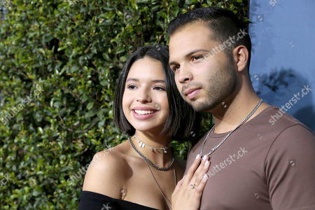 Angela Aguilar and Leonardo Aguilar arrive for the grand opening celebration of Universal Studios Hollywood's 'Jurassic World: The Ride' in Universal City, California, USA, 22 July 2019.
